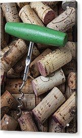 Green Corkscrew Acrylic Print by Garry Gay