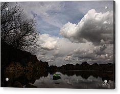 Green Dingy In The Dells Acrylic Print by Wayne King