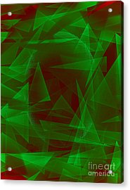 Green Eyed Monster Abstract Acrylic Print by Michelle Bergersen