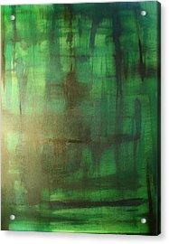 Green Meadow Acrylic Print by Derya  Aktas