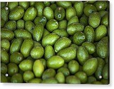 Green Olives Acrylic Print by Joana Kruse
