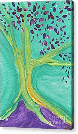 Green Tree Acrylic Print by First Star Art