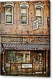 Greenwich Village Meat Market Acrylic Print by Kathy Jennings
