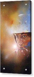 Gretzky Acrylic Print by Gary McLaughlin