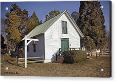 Griffiths Chapel 1850 Acrylic Print by Brian Wallace