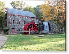 Grist Mill At Wayside Inn Acrylic Print by John Small