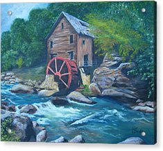 Grist Mill Acrylic Print by Tersia Brooks