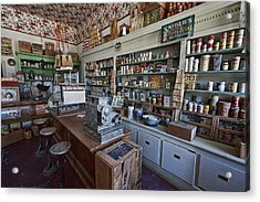 Grocery Store Of Yesteryear - Virginia City Montana Ghost Town Acrylic Print by Daniel Hagerman