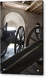 Ground Floor Cannons Acrylic Print by Peter Chilelli