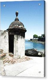 Guard Post Castillo San Felipe Del Morro San Juan Puerto Rico Diffuse Glow Acrylic Print by Shawn O'Brien