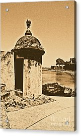 Guard Post Castillo San Felipe Del Morro San Juan Puerto Rico Rustic Acrylic Print by Shawn O'Brien