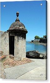 Guard Post Castillo San Felipe Del Morro San Juan Puerto Rico Acrylic Print by Shawn O'Brien
