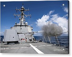 Guided-missile Destroyer Uss Pinckney Acrylic Print by Stocktrek Images