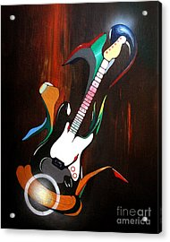 Guitar Melody Acrylic Print by Peter Maricq