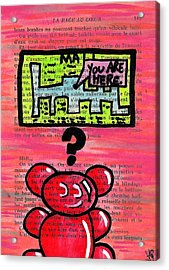 Gummy Bears Can't Read Acrylic Print by Jera Sky