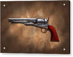 Gun - Model 1860 Colt Army Revolver Acrylic Print by Mike Savad