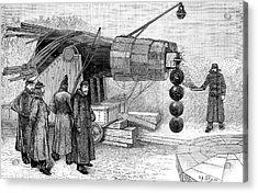 Gun Electromagnet, 19th Century Acrylic Print by