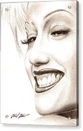 Gwen Stefani Acrylic Print by Michael Mestas