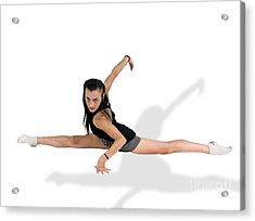 Gymnast Does The Splits  Acrylic Print by Ilan Rosen