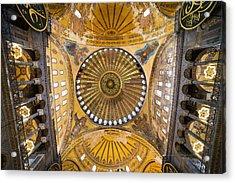 Hagia Sophia Ceiling Acrylic Print by Artur Bogacki