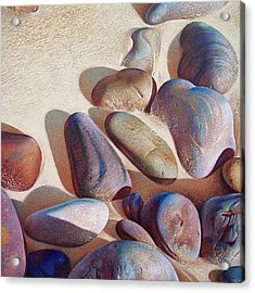 Hallett Cove's Stones - Detail Acrylic Print by Elena Kolotusha