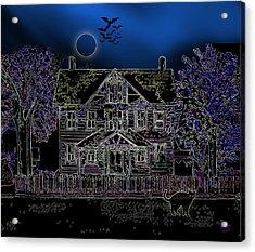 Halloween Haunt Acrylic Print by Clara Sue Beym