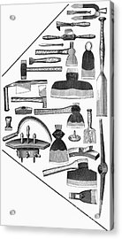 Hand Tools, 1876 Acrylic Print by Granger