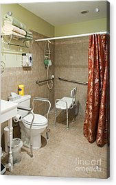 Handicapped-accessible Bathroom Acrylic Print by Andersen Ross