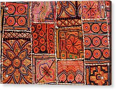 Handicraft Fabric Art Acrylic Print by Milind Torney