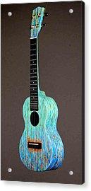 Handpainted Pono Concert Ukulele Acrylic Print by Jean Groberg