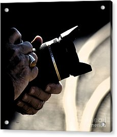 Hands At 270mm Acrylic Print by Steven  Digman