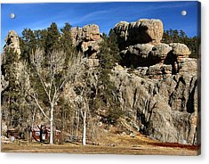 Hang A Left At The Rock Acrylic Print by Lynne and Don Wright