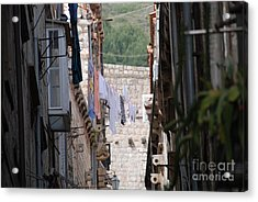 Hanging Out In Dubrovnik Acrylic Print by Barry Luroe