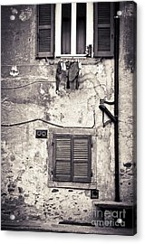 Hanging Out To Dry Acrylic Print by Silvia Ganora