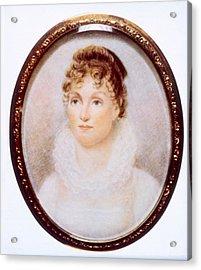 Hannah Van Buren 1783-1819, Wife Acrylic Print by Everett