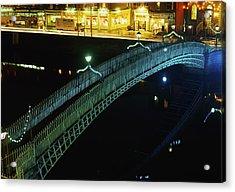 Hapenny Bridge, Dublin City, Co Dublin Acrylic Print by The Irish Image Collection