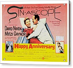 Happy Anniversary, Mitzi Gaynor, David Acrylic Print by Everett
