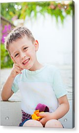 Happy Child Acrylic Print by Tom Gowanlock