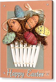 Happy Easter Acrylic Print by Marilyn Smith