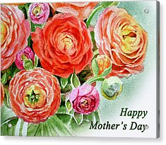 Happy Mothers Day Card Acrylic Print by Irina Sztukowski