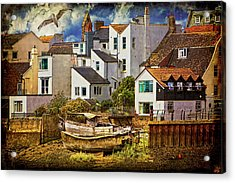 Harbor Houses Acrylic Print by Chris Lord