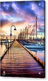 Harbor Town Acrylic Print by Tom Schmidt