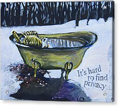 Hard To Find Privacy Acrylic Print by Tilly Strauss