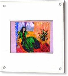 Harem Girl Acrylic Print by Duygu Kivanc