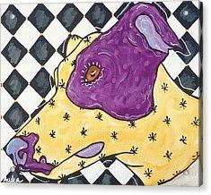 Harlequin Greyhound Acrylic Print by Audra Sampson