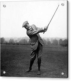 Harry Vardon Swinging His Golf Club Acrylic Print by International  Images
