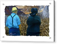 Harvesting The Corn Acrylic Print by Bob Salo