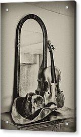 Hat And Fiddle Acrylic Print by Bill Cannon