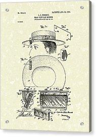 Hat Mirror 1903 Patent Art Acrylic Print by Prior Art Design