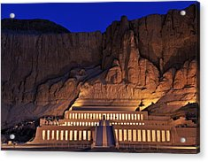 Hatshepsuts Mortuary Temple Rises Acrylic Print by Kenneth Garrett